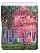 Weeping Cherry By The Veranda Duvet Cover
