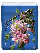 Weeping Cherry Tree Blossoms Duvet Cover by Carol Groenen