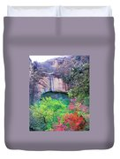 Weeping Rock At Zion National Park Duvet Cover