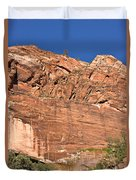 Weeping Rock In Zion National Park Duvet Cover