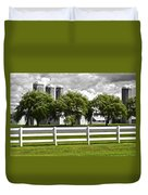Weeping Willow Green Duvet Cover