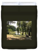 Weeping Willows In Central Park  Duvet Cover