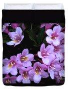Weigela Blossoms Duvet Cover