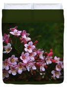 Weigela Branch Duvet Cover