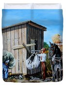 Weighing Cotton In The Field 1930s Duvet Cover