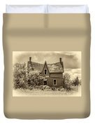 Weight Of The World - Antique Sepia Duvet Cover