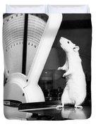 Weight Watcher Lab Rat Duvet Cover