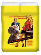Weimaraner Art Canvas Print - Love Is My Profession Movie Poster Duvet Cover