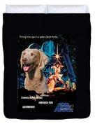 Weimaraner Art Canvas Print - Star Wars Movie Poster Duvet Cover