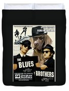 Weimaraner Art Canvas Print - The Blues Brothers Movie Poster Duvet Cover