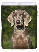 Weimaraner Hunting Dog Duvet Cover