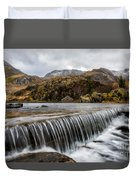 Weir At Ogwen Duvet Cover