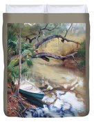 Wekiva Autumn Duvet Cover