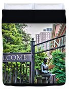 Welcome Friends Duvet Cover