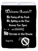 Welcome Guests Duvet Cover