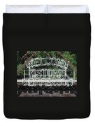Welcome Historic Jefferson Texas Railroad Sign Duvet Cover