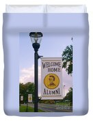 Welcome Home Banner Duvet Cover