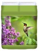 Welcome Home Hummingbird Duvet Cover