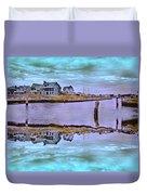 Welcome To Bald Head Island II Duvet Cover