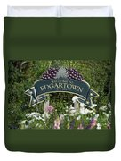 Welcome To Edgartown Duvet Cover