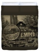Welcome To Empire Michigan Duvet Cover