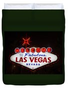 Welcome To Fabulous Las Vegas Duvet Cover