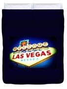 Welcome To Fabulous Las Vegas Duvet Cover