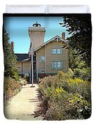 Welcome To Hereford Inlet Lighthouse Duvet Cover