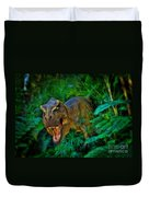 Welcome To My Park Tyrannosaurus Rex Duvet Cover