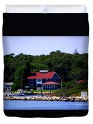 Welcome To Oak Bluffs Duvet Cover