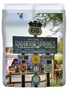 Welcome To Radiator Springs Duvet Cover