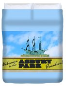 Welcome To The Asbury Park Boardwalk Duvet Cover