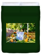 Welcome To The Garlic Festival Duvet Cover
