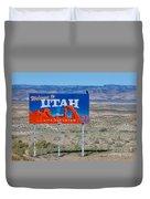 Welcome To Utah Duvet Cover