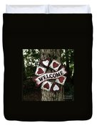 Welcome With Love Duvet Cover