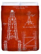 Well Drilling Apparatus Patent From 1960 - Red Duvet Cover