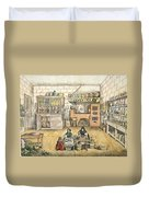 Well Stocked Rustic Kitchen Duvet Cover