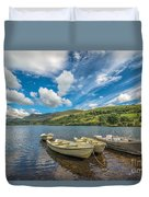 Welsh Boats Duvet Cover