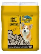 Welsh Corgi Pembroke Art Canvas Print - 12 Angry Men Movie Poster Duvet Cover