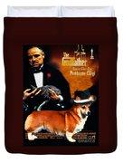 Welsh Corgi Pembroke Art Canvas Print - The Godfather Movie Poster Duvet Cover
