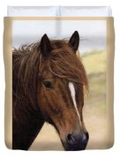 Welsh Pony Painting Duvet Cover