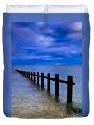 Welsh Seascape Duvet Cover by Adrian Evans