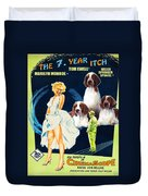 Welsh Springer Spaniel Art Canvas Print - The Seven Year Itch Movie Poster Duvet Cover