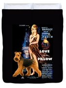 Welsh Terrier Art Canvas Print - Love On A Pillow Movie Poster Duvet Cover