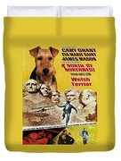 Welsh Terrier Art Canvas Print - North By Northwest Movie Poster Duvet Cover