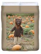 Werewolf In The Pumpkin Patch Duvet Cover