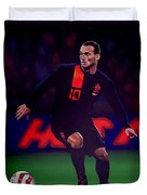 Wesley Sneijder  Duvet Cover by Paul Meijering