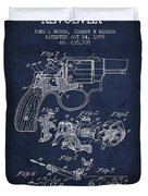 Wesson Hobbs Revolver Patent Drawing From 1899 - Blue Duvet Cover