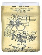 Wesson Hobbs Revolver Patent Drawing From 1899 - Vintage Duvet Cover