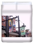 West End Station Dallas Dart Rail Duvet Cover by Donna Wilson